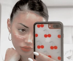 cherry, makeup, and phone case image