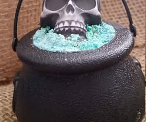 bubble bath, soap, and skull bath bomb image