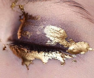 art, gold, and makeup image