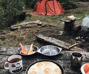 camping, food, and travel image