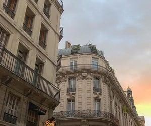 parisian, beige, and sunset image