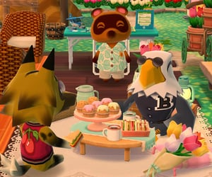 animal crossing, picnic, and cute image