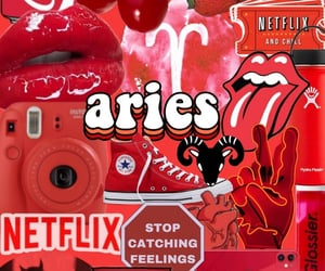 aesthetic, aries, and astrology image