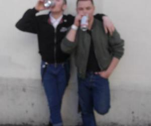 alcohol, skinhead, and beer image