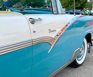 50s, automobiles, and blue image