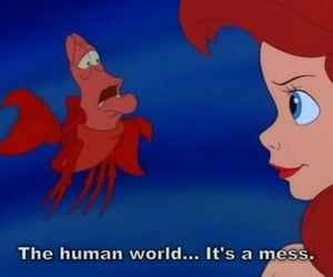 ariel, mermaid, and sebastian image