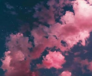 clouds, night, and pink image