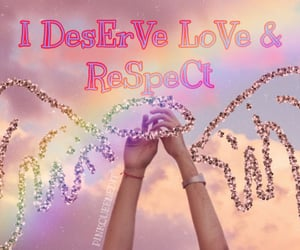 rainbow, pinkqueen, and words image