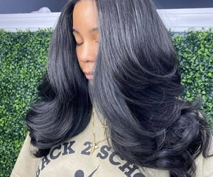 hair, styles, and pretty girls image