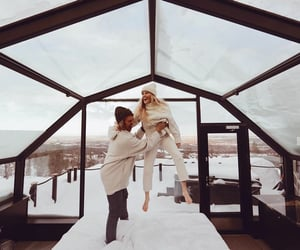 adventure, couple, and happy image