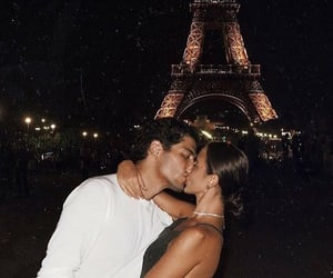 couple, eiffel tower, and love image
