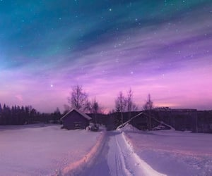 sky, starlight, and winter image