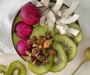 breakfast, coconut, and delicious image