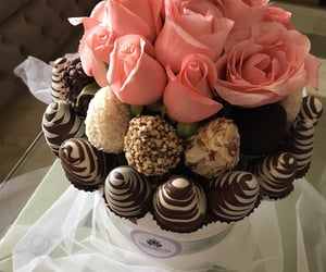 chocolate, deli, and flowers image