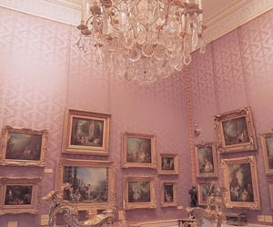 pink, chandelier, and vintage image