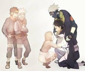 naruto, kakashi, and rin image