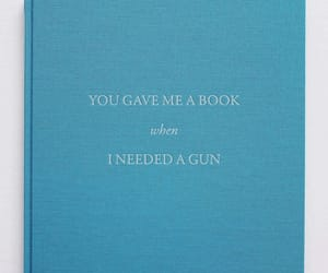 book, funny, and gun image