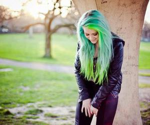 beautiful, colored, and girl image