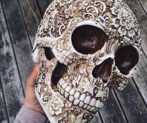 art, skull, and dark image