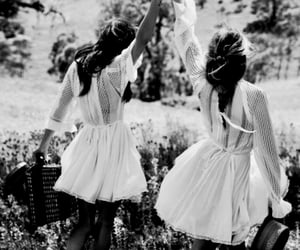 black and white, friendship, and photography image