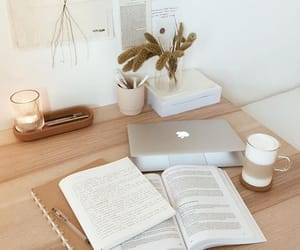 coffee, desk, and learn image