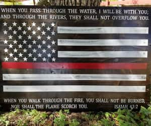 american flag, gift for firefighter, and first responder gift image