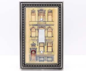 architecture, brownstone, and etsy image
