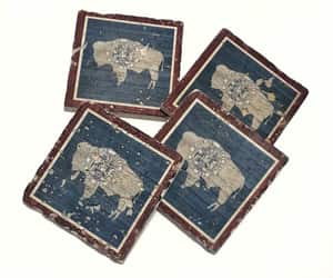 coasters, etsy, and rustic image