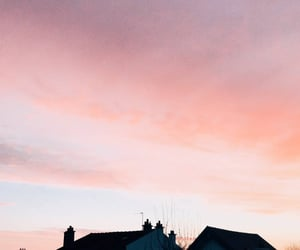 pink, sky, and winter image
