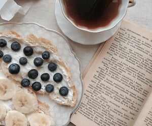 book, breakfast, and tea image