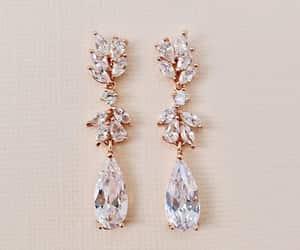 bridal jewelry, bridesmaid earrings, and bridal earrings image