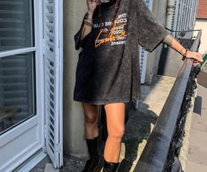 blogger, combat boots, and fashion image