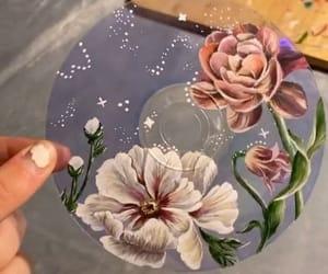 acrylic, art, and cd image
