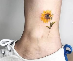 sunflower, cute, and Tattoos image