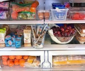 apples, fridge, and fruit image