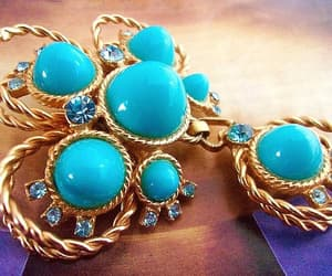 etsy, renaissance fair, and turquoise brooch image