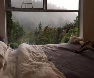 aesthetic, bed, and nature image