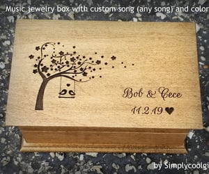 etsy, anniversarygift, and personalized box image