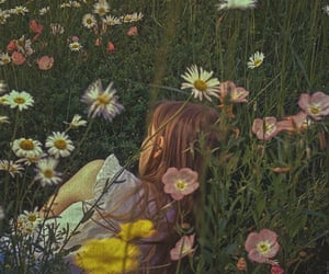 flowers, girl, and cottagecore image