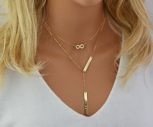 etsy, personalized, and gold lariat necklace image