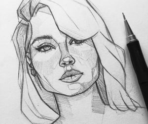 drawing, eyes, and pretty image