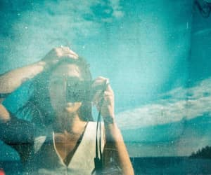 analogue, girl, and blue image