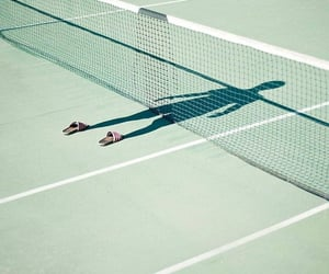 shadow, tennis, and photography image