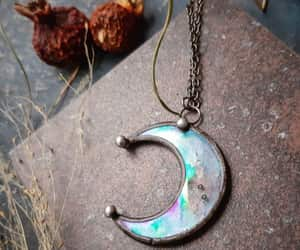 etsy, clear moon, and universal necklace image