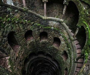 castle, nature, and stairs image