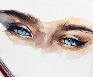 aesthetic, blue eye, and drawing image