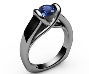etsy, engagementrings, and solitairering image
