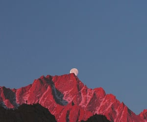 mountains, aesthetic, and red image