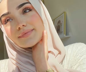 arabic, hijab, and beauty image