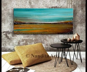 Abstract Painting, canvasart, and sunsetpainting image